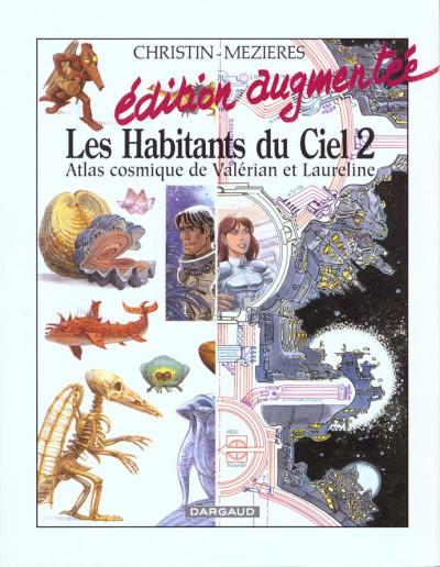 Couverture valérian - les habitants du ciel tome 2 - atlas cosmique de valérian et laureline