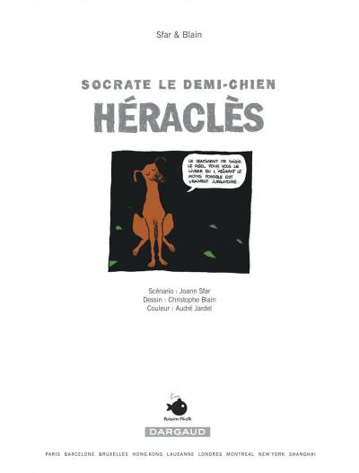 Page 1 Socrate le demi-chien tome 1 - héraclès