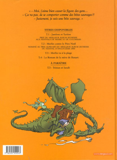 Dos Merlin tome 4 - le roman de la mère de renart