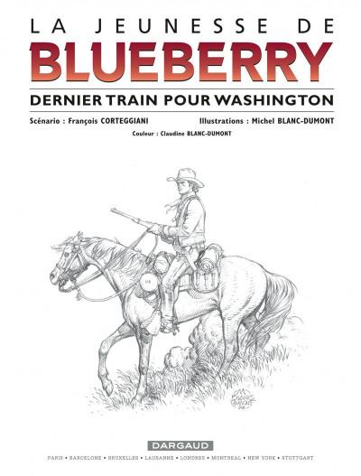 Page 1 La jeunesse de blueberry tome 12 - dernier train pour washington