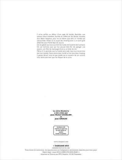 Page 2 La jeunesse de blueberry tome 6 - le raid infernal