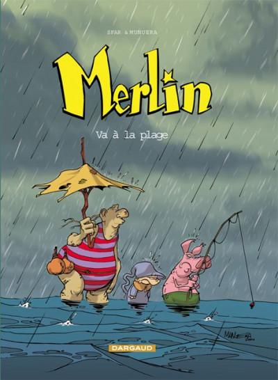 Couverture Merlin tome 3 - merlin va a la plage