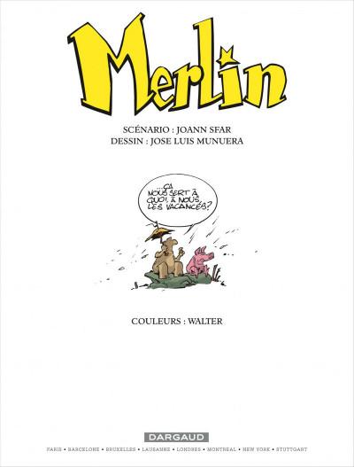 Page 1 Merlin tome 3 - merlin va a la plage