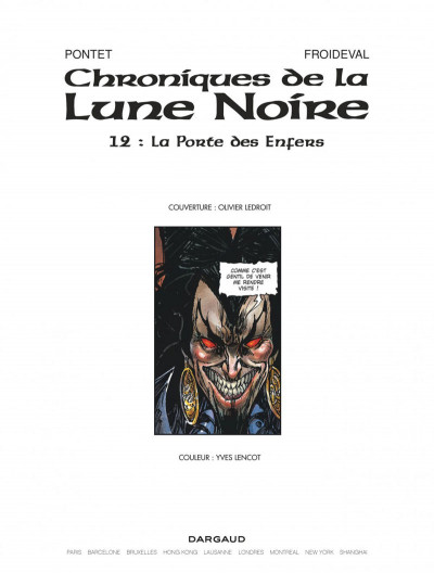 Page 3 Chroniques de la lune noire tome 12 - la porte des enfers