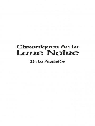 Page 1 Chroniques de la lune noire tome 13 - la prophétie