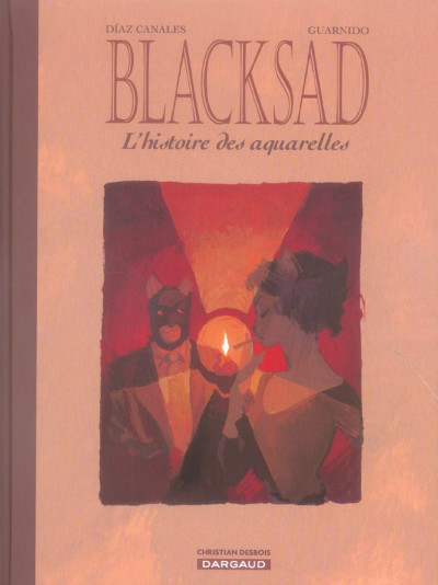 Couverture blacksad ; l'histoire des aquarelles