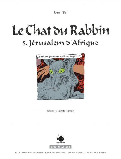 Page 1 Le chat du rabbin tome 5 - jérusalem d'afrique