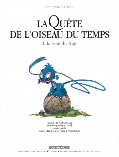 Page 1 La quête de l'oiseau du temps - avant la quête tome 3