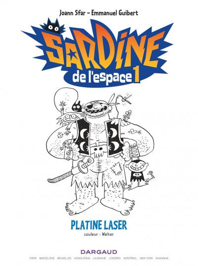 Page 3 Sardine de l'espace tome 1 - platine laser