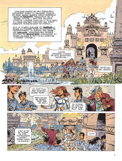 Page 1 Valérian tome 21 - l'ouvretemps