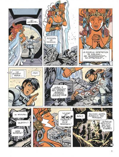 Page 5 Valérian tome 21 - l'ouvretemps