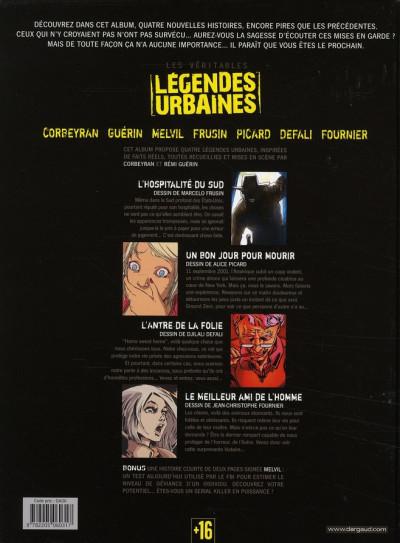 Dos légendes urbaines tome 2