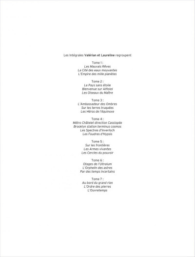 Page 2 Valérian - intégrale valérian et laureline tome 4