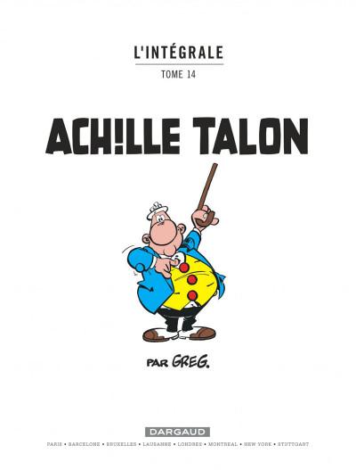 Page 1 Achille talon - intégrale tome 14