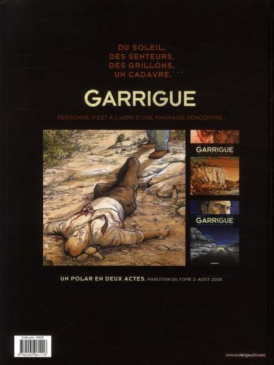 Dos Garrigue tome 1 - personne n'est à l'abri d'une mauvaise rencontre…