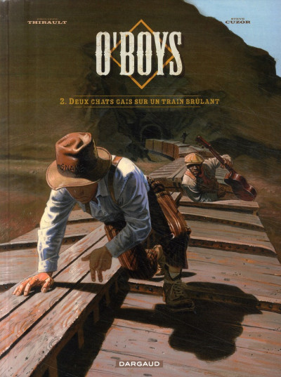 Couverture O'boys tome 2 - deux chats gais sur un train brûlant