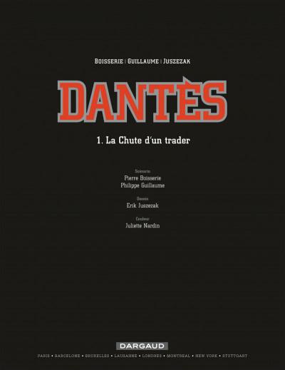 Page 1 Dantès tome 1 - la chute d'un trader