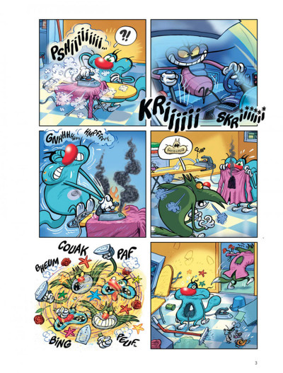 Page 2 Oggy et les cafards tome 1 - plouf, prouf, vrooo !