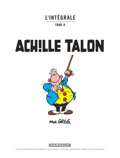 Page 1 Achille talon - intégrale tome 9
