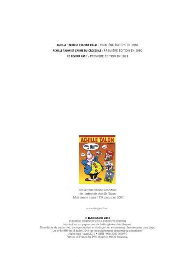 Page 2 Achille talon - intégrale tome 9