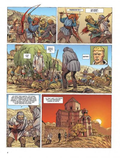 Page 8 Le dernier templier tome 3 - l'église engloutie