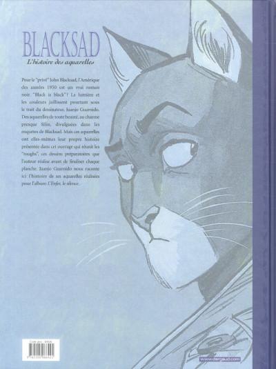 Dos Blacksad tome 2 - l'histoire des aquarelles