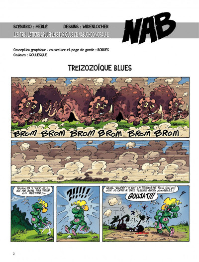 Page 2 Nab tome 13 - Treizozoïque Blues !
