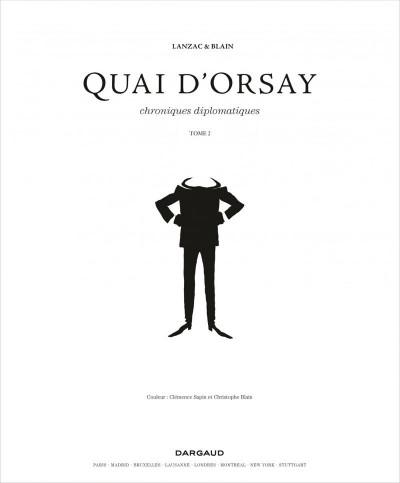 Page 3 Quai d'Orsay tome 2 - chroniques diplomatiques