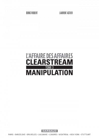 Page 1 L'affaire des affaires tome 3 - manipulation, premier mouvement