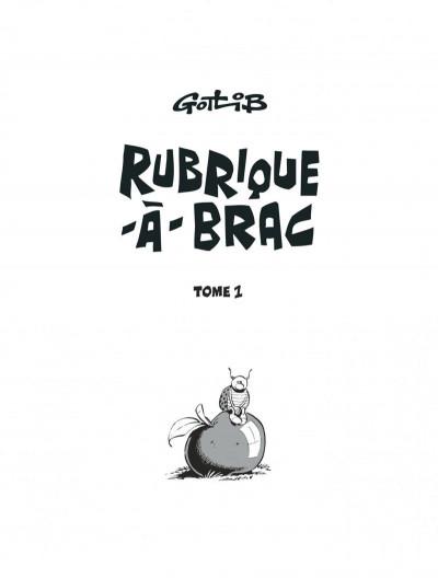 Page 1 Rubrique à brac - intégrale (nouvelle édition)