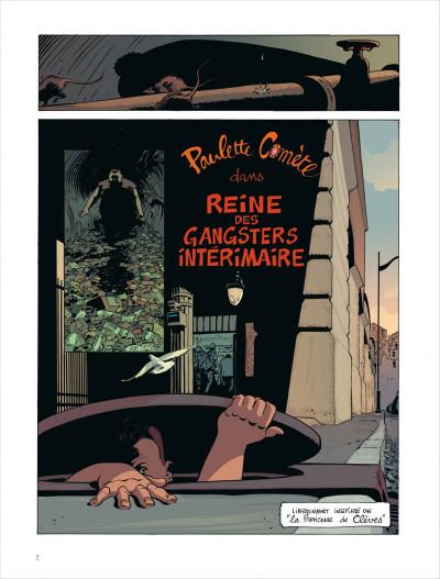 Page 2 Paulette comète tome 2 - reine des gangsters intérimaire