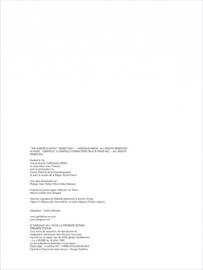 Page 2 Garfield & cie tome 8 - agent secret