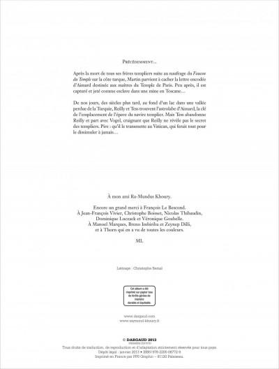 Page 1 Le dernier templier tome 4 - le faucon du temple
