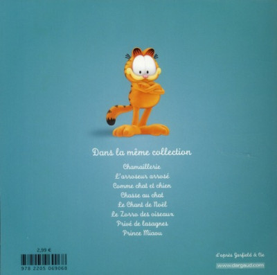 Dos Garfield et cie tome 8 - prince Miaou