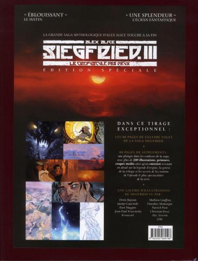 Dos Siegfried tome 3 - édition spéciale