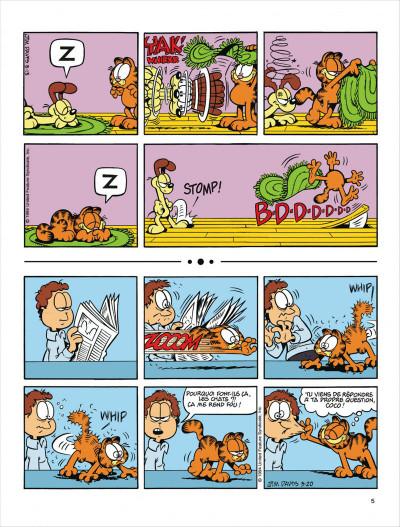 Page 5 Garfield tome 29 - en roue libre