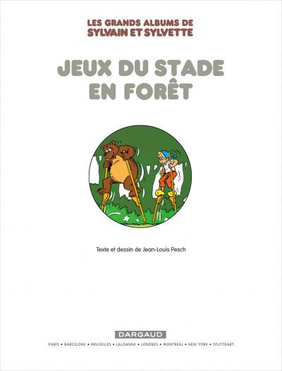 Page 3 Sylvain & Sylvette - intégrale tome 2 - jeux du stade en forêt