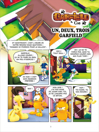 Page 3 Garfield & cie tome 12 - lasagnes et castagnes