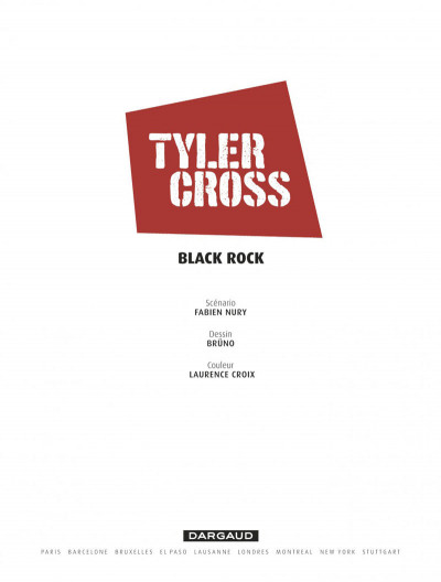 Page 1 Tyler Cross tome 1