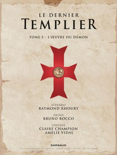 Page 1 Le dernier Templier tome 5