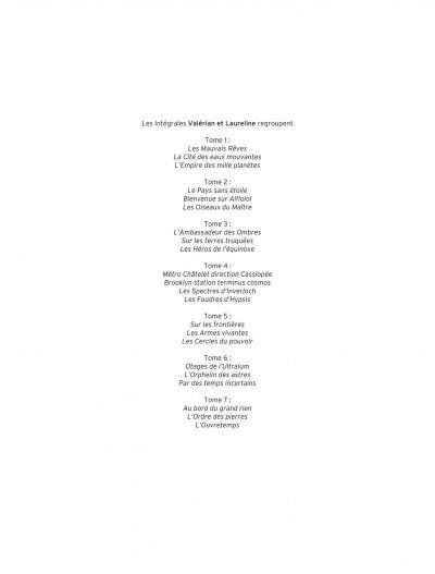 Page 2 Valérian et Laureline - intégrale tome 7
