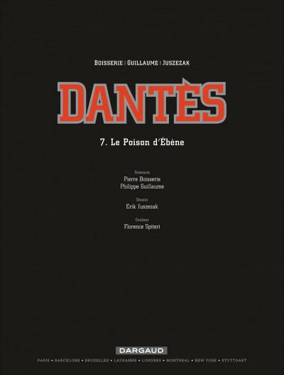 Page 1 Dantès tome 7 - le poison d'ébène