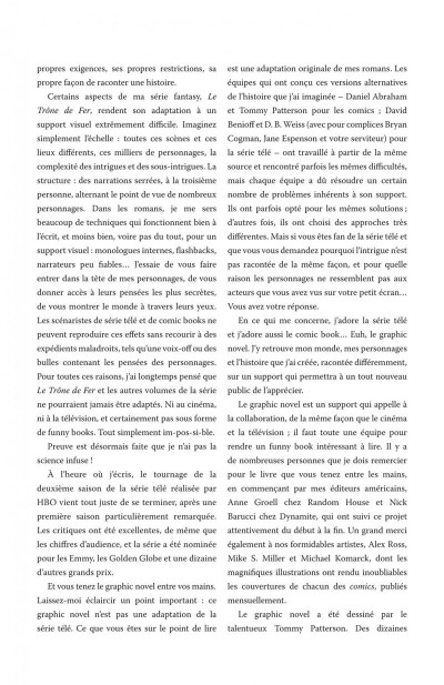 Page 5 a game of thrones - le trône de fer tome 1