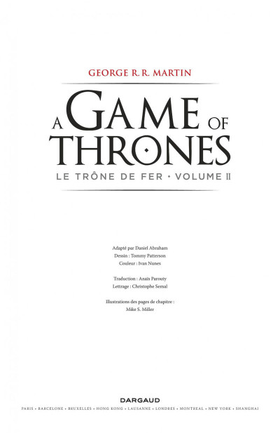 Page 3 Game of Thrones - le trone de fer tome 2
