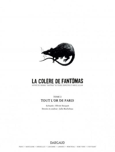 Page 1 La colère de Fantômas tome 2 - Tout l'or de Paris