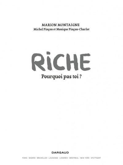 Page 1 Riche, pourquoi pas toi ?