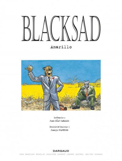 Page 1 Blacksad tome 5
