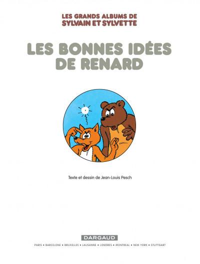 Page 3 Sylvain & Sylvette - intégrale tome 6 - les bonnes idées de Renard