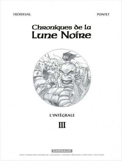 Page 1 Les chroniques de la lune noire - intégrale tome 3