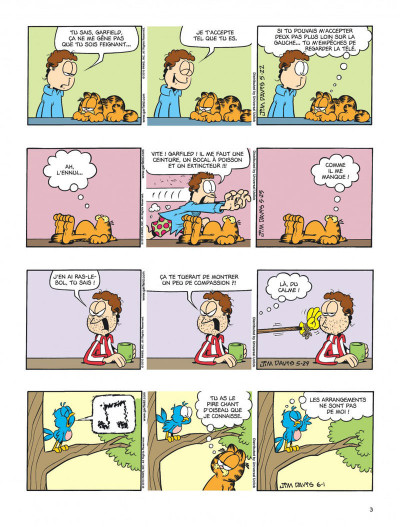 Page 3 Garfield tome 59 - chat geek